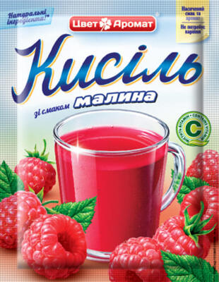 Starch drink with raspberry flavor, 90g